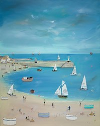 Sunshine Time by Lucy Young - Original Painting on Stretched Canvas sized 32x39 inches. Available from Whitewall Galleries